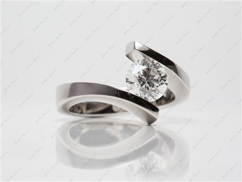 Platinum  Tension Set Engagement Ring