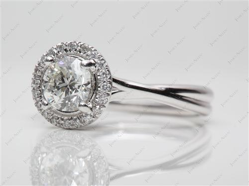 White Gold  Pave Ring