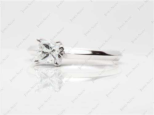 White Gold  Solitaire Rings