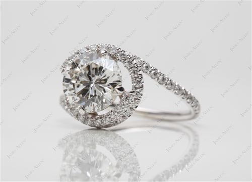 White Gold  Micro Pave Wedding Band