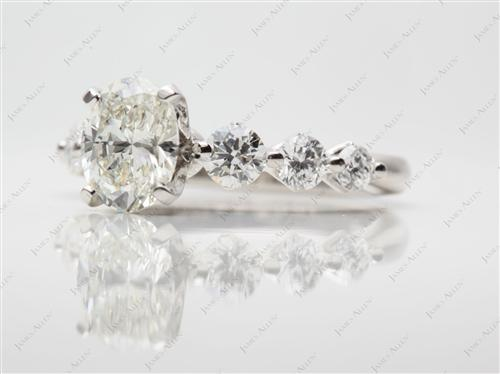 Platinum  Rings With Side Stones