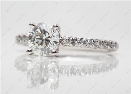 Platinum  Pave Ring Setting