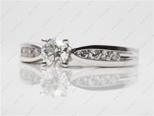 White Gold  Channel Set Diamonds