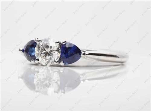 White Gold  Gemstones Ring