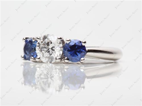 Platinum  Gem Stone Ring