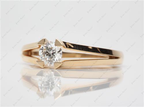 Gold  Tension Set Engagement Ring