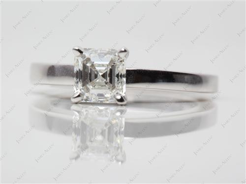White Gold  Solitaire Engagement Ring
