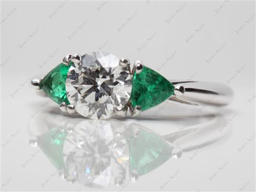 White Gold  Colored Stone Rings