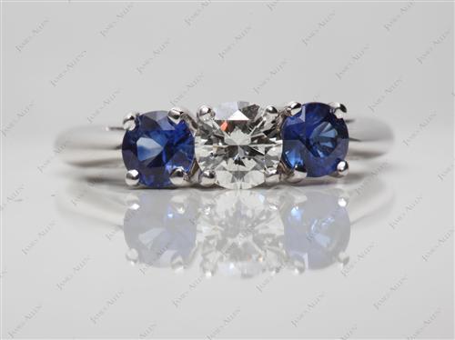 White Gold  Gemstone Rings