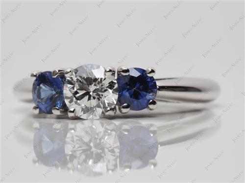 Platinum  Gemstone Rings