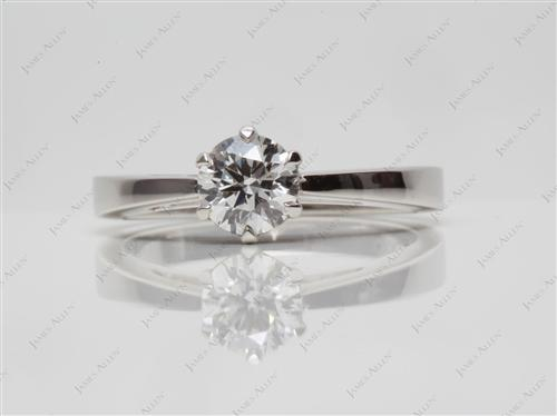 Platinum  Round Solitaire Ring
