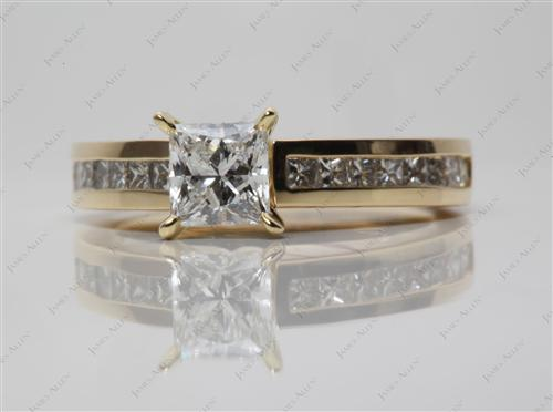 Gold  Channel Set Diamonds