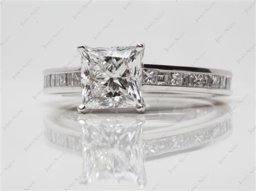 Platinum  Channel Cut Ring
