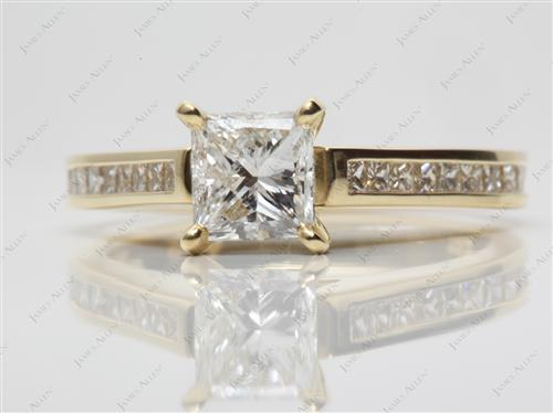 Gold  Channel Rings