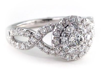 Designer Royal Halo Engagement and Anniversary Ring