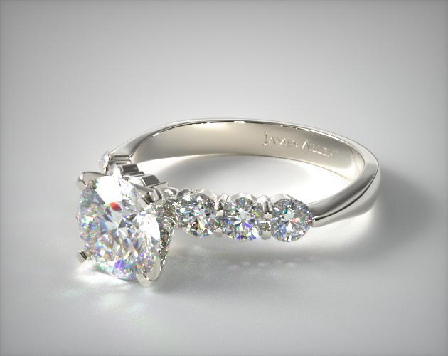 Common Prong Six Round Diamond Engagement Ring