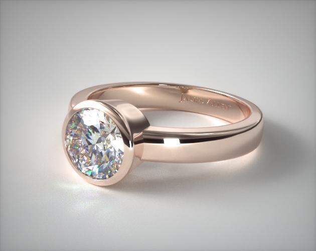Ct White And Rose Gold Princess Cut Diamond Solitaire Ring