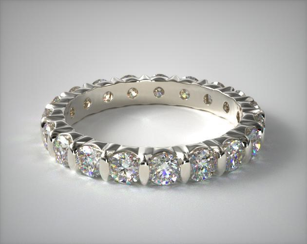 2 00ct Bar Set Diamond Eternity Ring 18K White Gold
