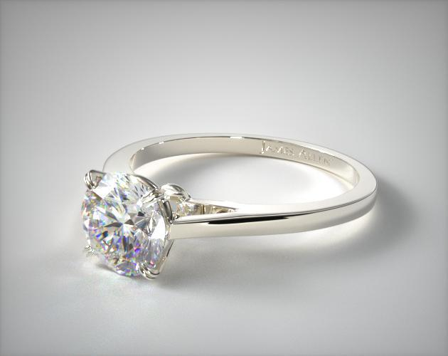 Platinum Double Claw Prong Engagement Ring 17130p