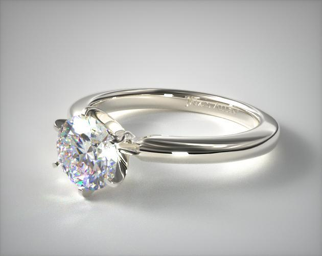 2mm Comfort Fit Solitaire Engagement Ring Six Prong