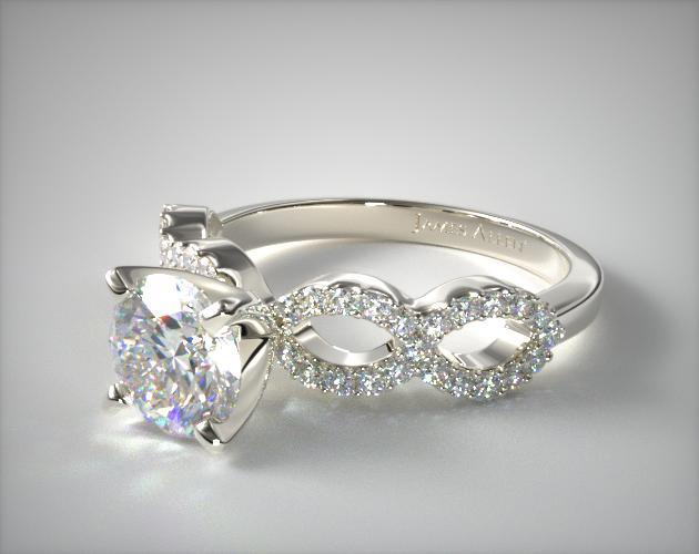 Pave Infinity Diamond Engagement Ring