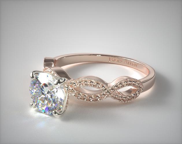 Vintage Infinity Engagement Ring 14k Rose Gold James