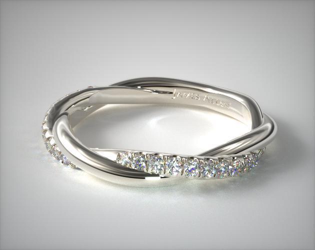 Matching Pave Wedding Ring 14k White Gold James Allen