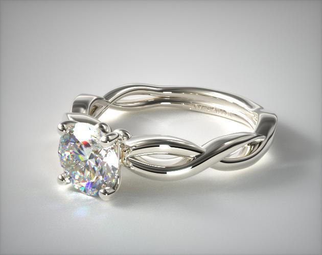 Infinity Solitaire Engagement Ring Platinum James