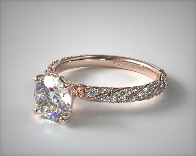 Twisted Pave Engagement Ring 14k Rose Gold James Allen