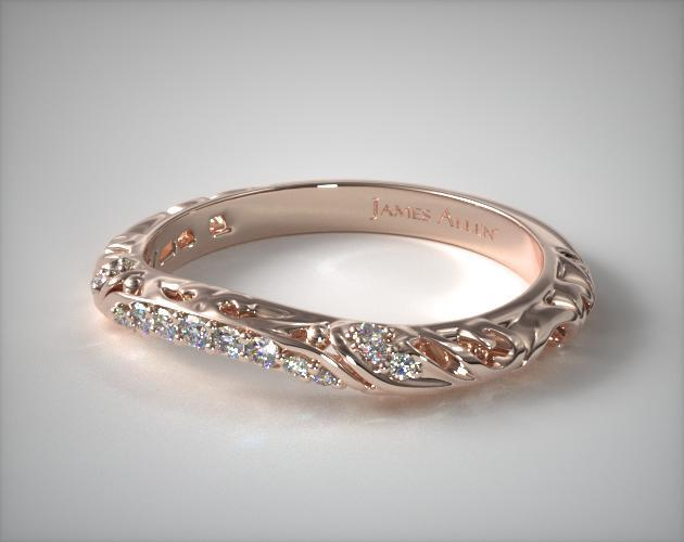 Matching Wedding Band 14k Rose Gold James Allen 25540r14