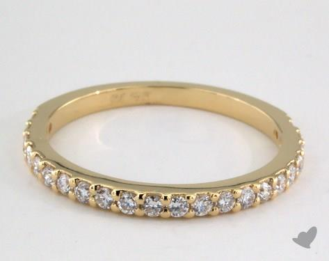 18K Yellow Gold  Side stones Engagement Ring