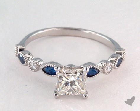 Vintage Sapphire Wedding Rings