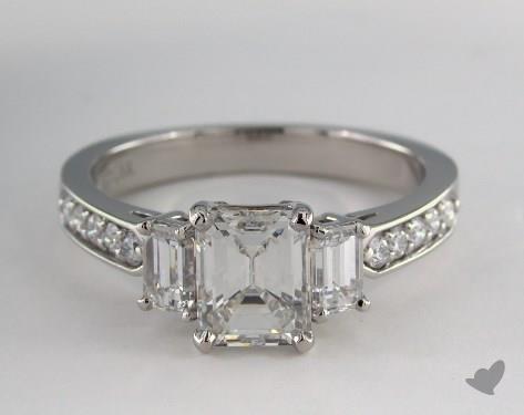 Platinum  Three Stone Engagement Ring