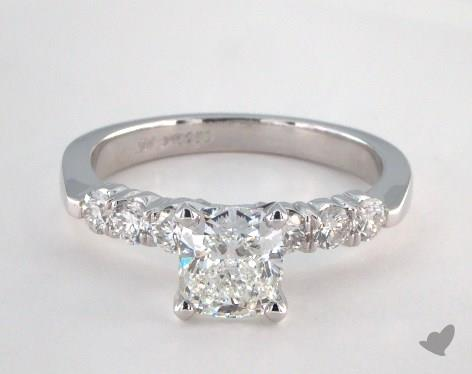 Platinum  Side stones Engagement Ring
