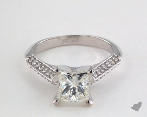 14K White Gold  Vintage Engagement Ring