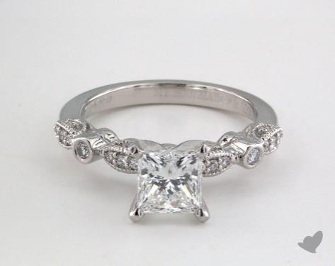 Platinum  Vintage Engagement Ring