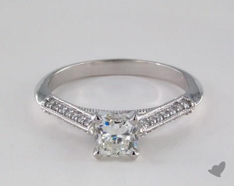 18K White Gold  Vintage Engagement Ring
